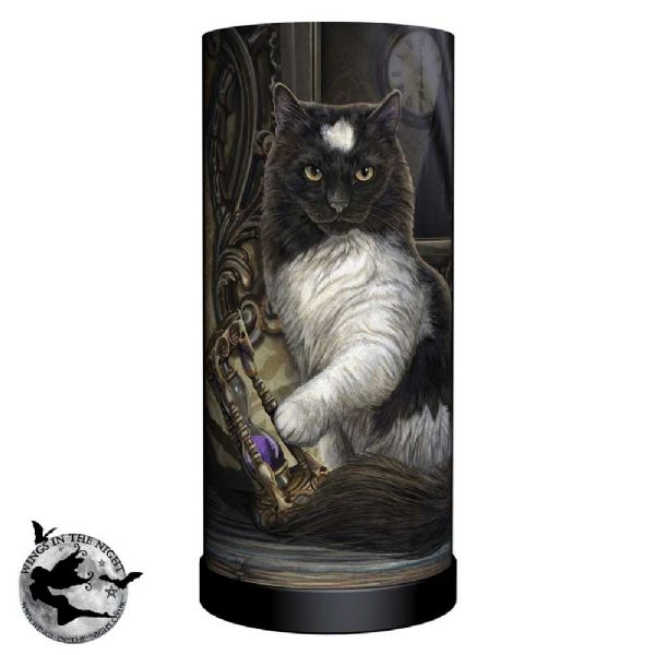 NEMESIS NOW Time's Up Cat Lamp | Lisa Parker